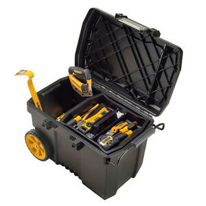 dewalt contractor pro mobile wheeled tool box chest storage portable organizer 618125279869 ebay. Black Bedroom Furniture Sets. Home Design Ideas