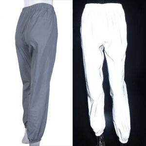 Reflective-In-The-Dark-Women-Hip-Hop-Dance-Harem-Pants-Sport-Trousers-Casual
