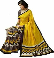 Designer Party Wear Art Bhagalpuri Silk Saree