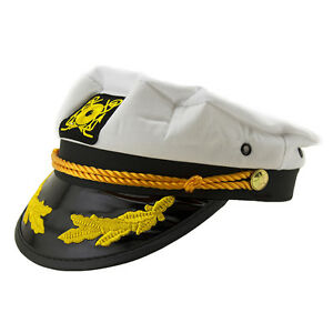 a0e6cac408bb1 Men   Women s Yacht Captain Skipper Sailor Boat Cap Hat Costume ...
