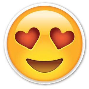 Framed Emoji Print Love Heart Eyes Face Picture Poster