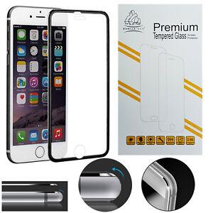 Nuevo-Metal-iPhone-8-Negro-Gorilla-Tech-EDGE-Marca-Protector-de-Pantalla-de-Vidrio-Templado
