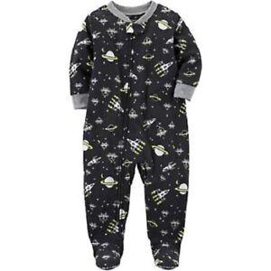 b35f1110554c Carter s One-Piece Outer Space Fleece Sleeper Pajamas Toddler Boy ...
