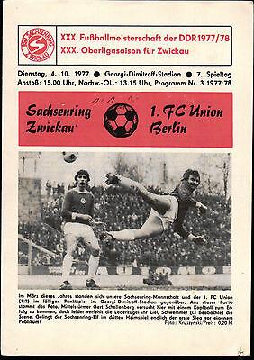 FC Union Berlin FC Magdeburg 1 OL 77//78  1
