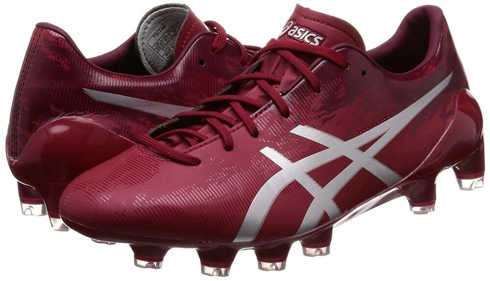 Asics Fútbol Spike Zapatos DS Ligero X-Fly 3 Sl Tsi749 Rojo Borgoña con Tracking