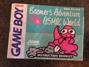 NINTENDO-GAMEBOY-MANUAL-BOOMER-039-S-ADVENTURE-IN-ASMIK-WORLD-GAME-BOY-NES-HQ