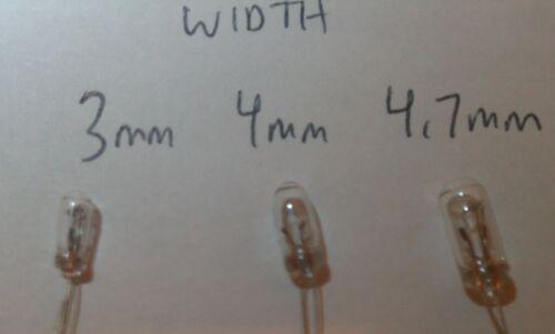 100 4mm 14v GM Chevy Buick Honda Toyota Climate Control Radio Lamps Bulbs