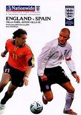 England v Spain 28/2/2001  MINT