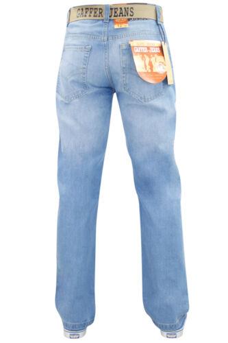 Herren Jeans Baumwolle Reguläre Passform Gerades Bein Hose Groß /& Hochgewachsen