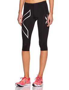 Womens-3-4-length-compression-tights-running-sports-yoga-XS-S-M-L-XL