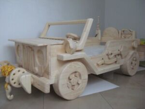 Details About Toddler Wooden Car Bed Jeep Design No Trailer Handmade For Order Only