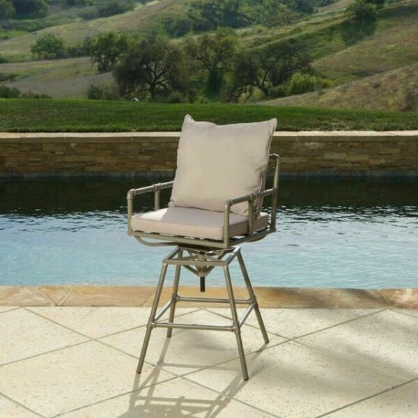 Tallahassee Outdoor Adjustable Height Swivel Bar Stool for ...