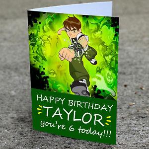 Detalles De Tarjeta De Cumpleaños Ben 10 Impreso Y Personalizado Profesionalmente A Sus Necesidades Ver Título Original