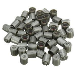 50pcs-Plastic-Gray-TPMS-Tire-Tyre-Valve-Stem-Caps-Cover-Kit-Car-Truck-Motorcycle