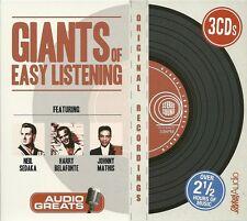 GIANTS OF EASY LISTENING - 3 CD SET NEIL SEDAKA HARRY BELAFONTE JOHNNY MATHIS