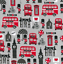 Per Metre Fat Quarters Childrens Ladybugs Rabbits Cars London Polycotton Fabric