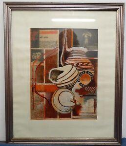 ACUARELA-EN-EL-PAPEL-034-CASCARAS-034-collage-imagen-pintado-firmado-Prits-1976