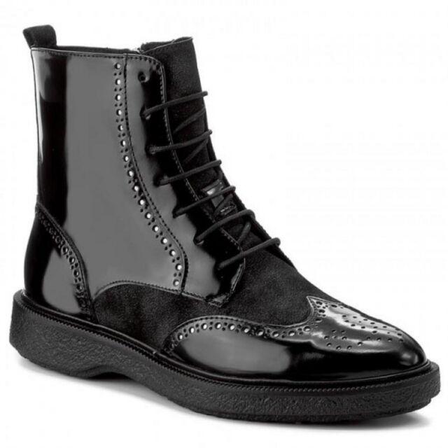 Geox D Prestyn A Stivali Donna Woman Nero Black Boots Decorato D745WA C9999 967806b0741