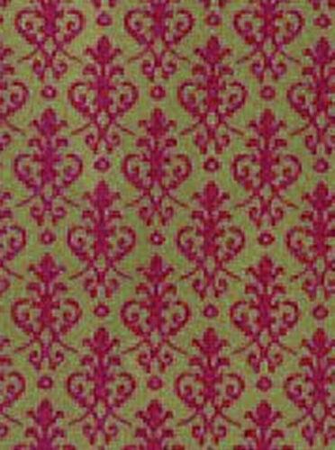 Casa De Muñecas Wallpapers 12 Escala 420 X 297mm Pack De 4 Victoriano Rojo Y Dorado