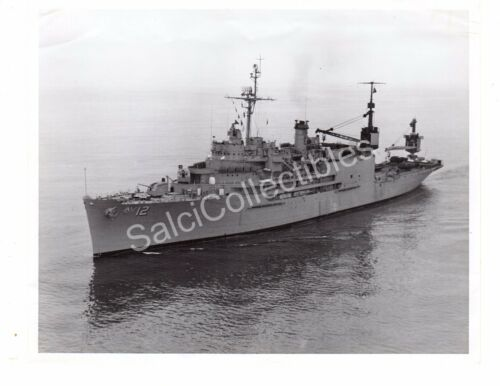 WWII US Navy Ship Photograph USSPine Island AV12 Official Photo 8x10