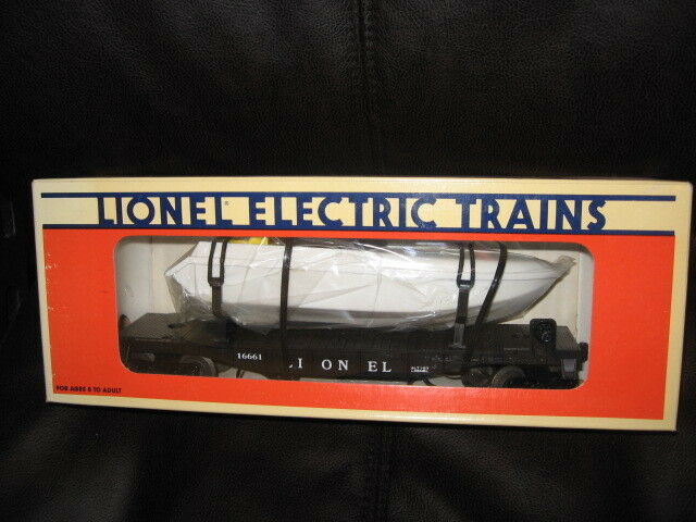 1990 Lionel Southern Pacific Flat Car with Operating Boat NIB