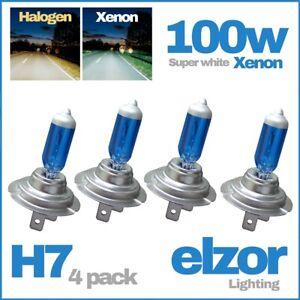 4-x-H7-499-477-100-W-Xenon-Super-Blanc-Ampoules-Phare-Croisement-Faisceau-Principal-12-V-HID
