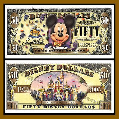 $10 UNC 50th Anniversary of Disneyland 2005 Disney D-prefix