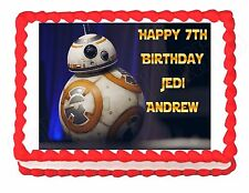 Star Wars The Force Awakens BB-8 party edible cake image topper frosting sheet