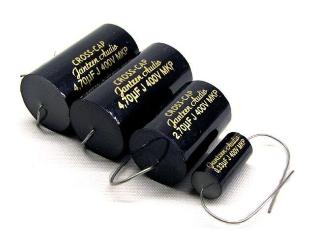 Jantzen Audio  Cross-Cap  2,2uF 2,20 uF 400VDC  MKP 5/% 16x26mm axial  #BP 2 pcs