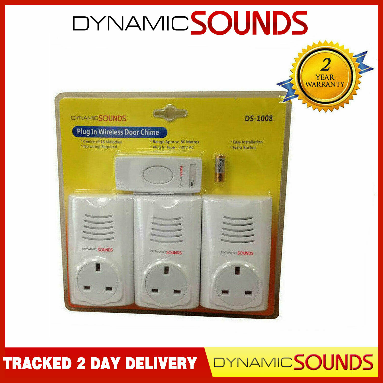 P152E Door Chime Bell And Intercom Set Melody LED With 20m Of Cable