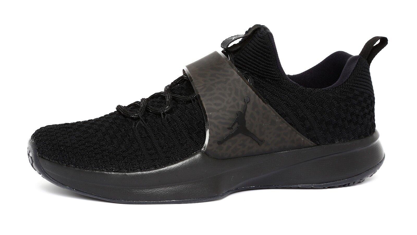 Jordan Trainer 2 Flyknit Black Metallic Silver Mens Sneakers Sz 11 2025