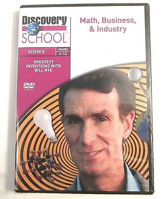 Bill Nye MATH BUSINESS & INDUSTRY DVD Discovery School Science Grades 6-12 Teach