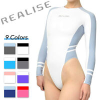 Realise N-015 Long-sleeved High-cut Swimsuit Swimwear Normal Choose Color