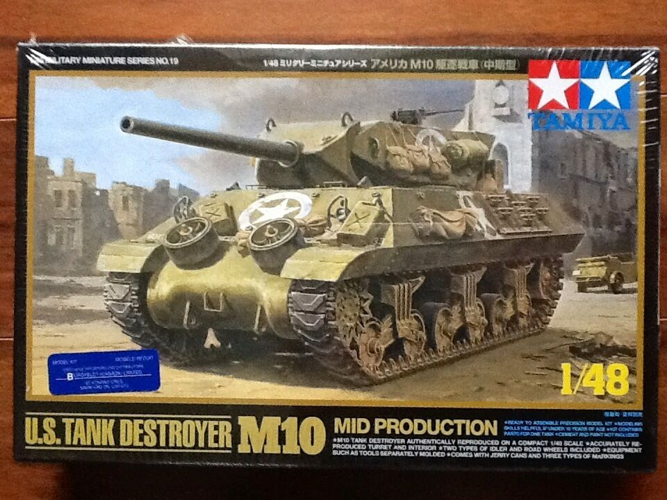 Tamiya 1 48 WW II U.S. Army Tank Destroyer M10 Mid Production Kit F S
