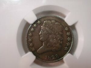 U.S. 1828 No Mint Mark Classic Head Copper C-2 Half Cent XF