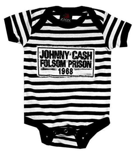 Johnny Cash Folsom Prison 1968 Infant One Piece Baby Bodysuit Romper 30030059