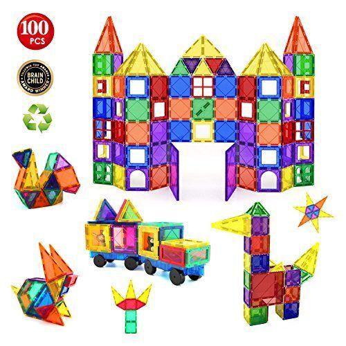 Enfants Hub 100pcs magnétique Building Building Building Set-Construction Kit Jouets éducatifs Fo f66961