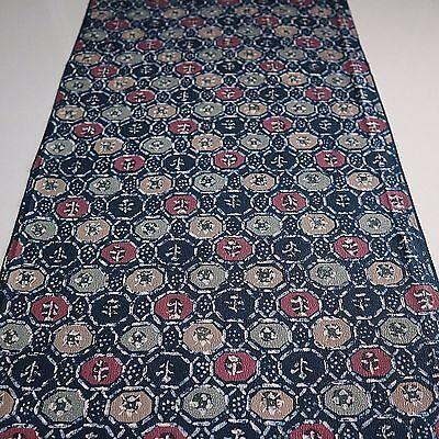 "Vintage Kimono Quilt Fabric Silk Deep Blue Art 162cm 63/"" inches J67"
