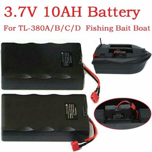 2pcs 3.7V 10AH Battery For TL-380A//B//C//D RC Fishing Bait Boat