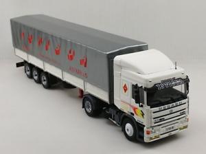 Pegaso-Troner-1240-40-Semi-Remolque-c-Toldo-1-43-Camion-Articulado-NUEVO