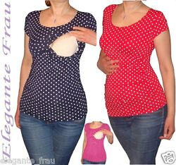 3 in1 Stillshirt Umstands Shirt KURZARM,Tunika Stilltop Stillbluse f. Leggings !