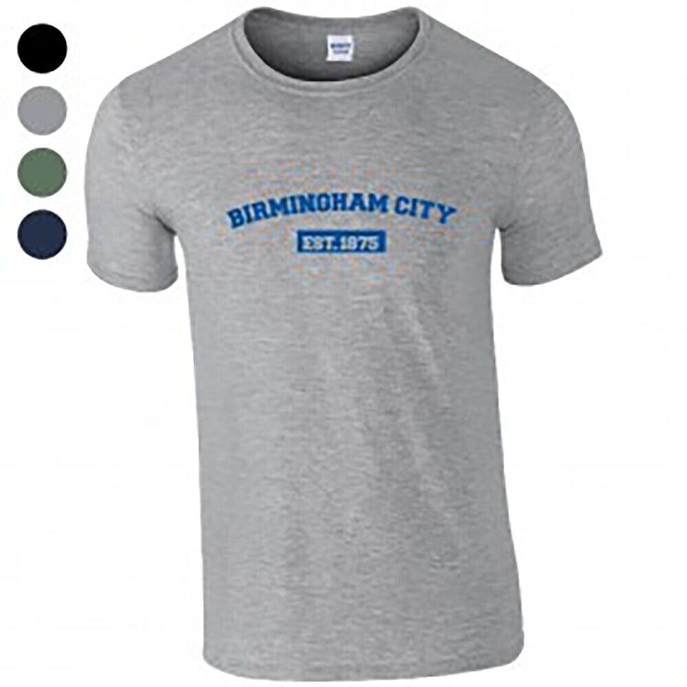 Birmingham City F.C - Personalised Mens T-Shirt (VARSITY EST.)