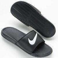 NWT Men's Size 12 Black Nike Benassi Swoosh Slide Sandals