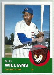 BILLY WILLIAMS CHICAGO CUBS 1963 STYLE CUSTOM MADE BASEBALL CARD BLANK BACK