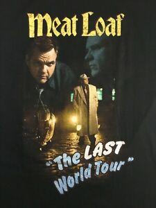 Vintage-Meatloaf-2003-Last-World-Tour-T-Shirt-Medium-Black-Rock-Music