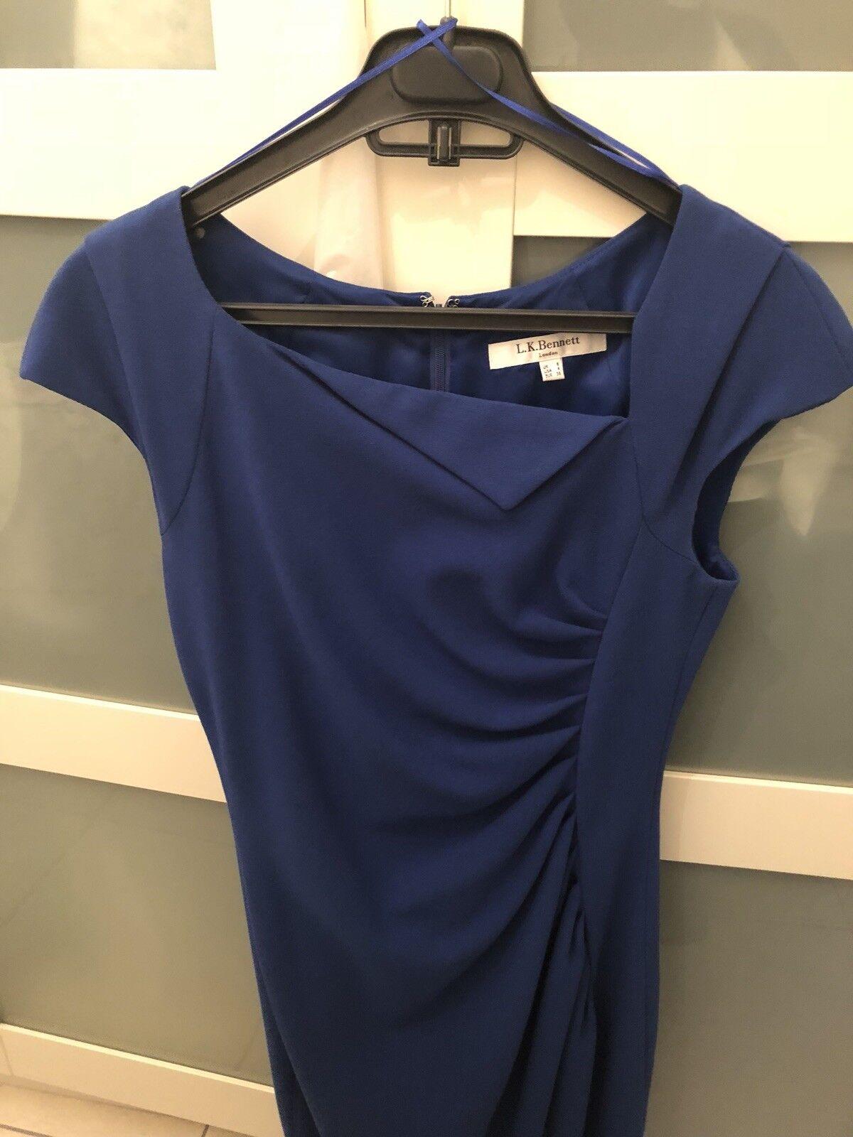 Nuevo Vestido Davina LK Bennett Cobalto Azul como  se ve en Royal EE. UU. 4 8  auténtico