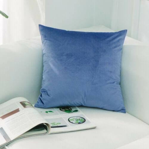 Solid Luxury Velvet Pillow Case Soft Decorative Car Sofa Cushion Cover New
