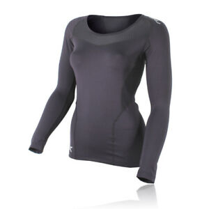 2XU-Womens-Base-Layer-Compression-Black-Long-Sleeve-Athlete-Sports-Running-Top