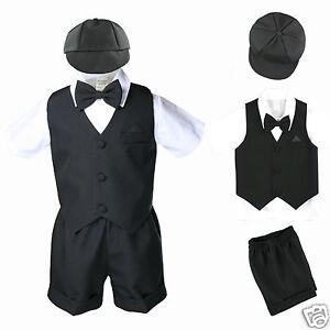 a3d658c69317 New Infant Boy   Toddler 5 pc Formal Vest shorts Suit S M L XL 2T 3T ...