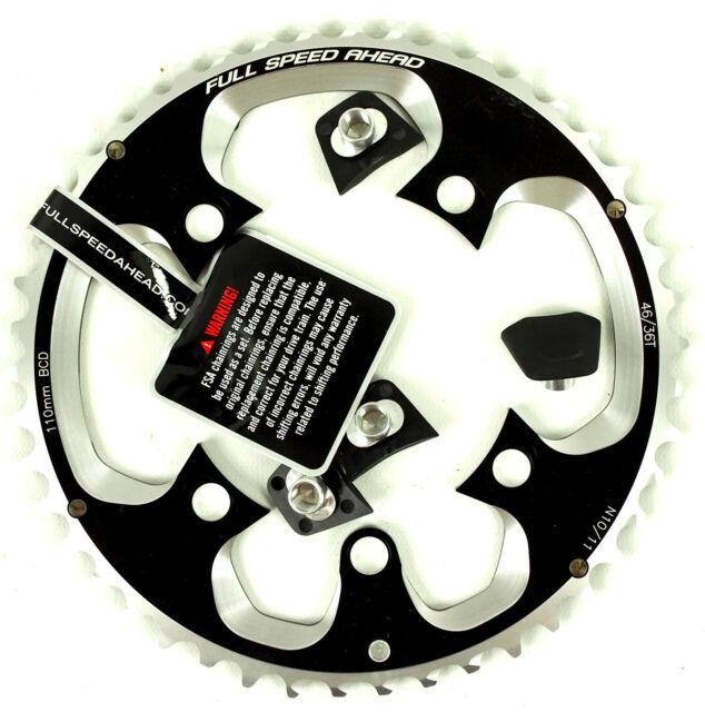 FSA Super ABS Road Chainring 10//11-Speed 34T 110BCD Black